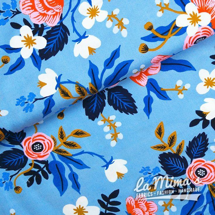 Birch Periwinkle Blue - Rayon