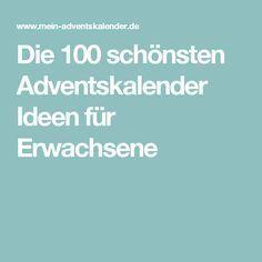 Die 100 schönsten Adventskalender Ideen für Erwachsene