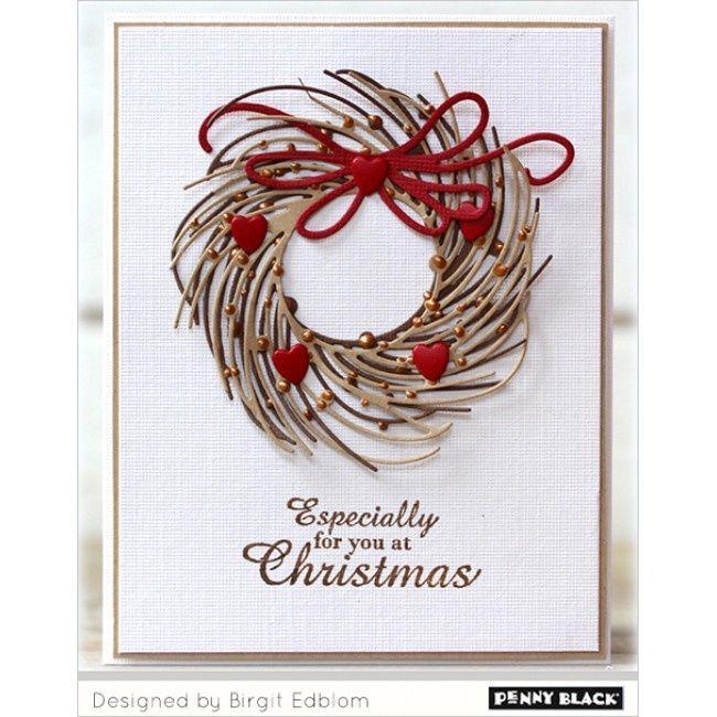 ... penny black christmas 2015 penny black creative die whirl wreath