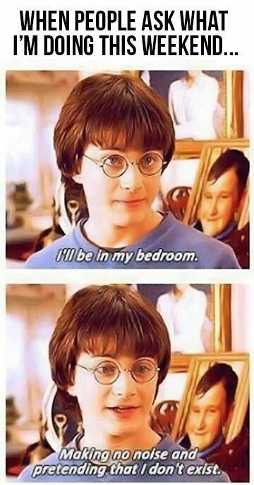 Because there is a HP marathon is on ABC Family