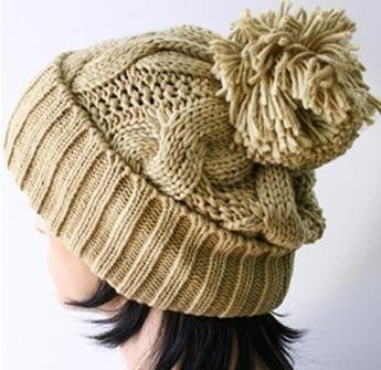 I'd love to make this knit hat, since I recently learned to