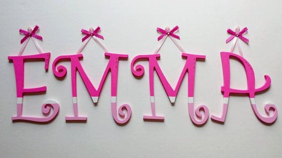 ORDER TODAY! 5 LETTERS Custom Wooden Hanging Wall Letters  by AlbonsBoutique
