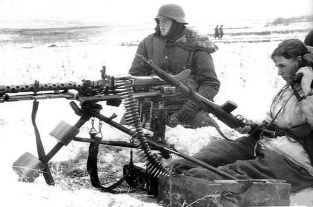 MG position of the SS.Div Totenkopfon the eastern front.