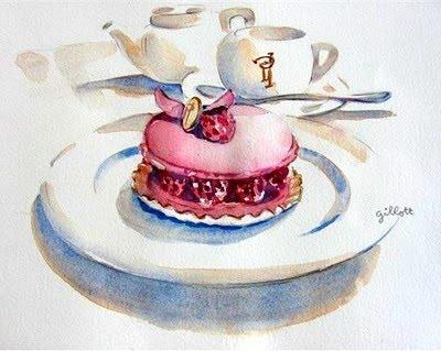 Watercolour Ispahan by Paris Breakfasts.