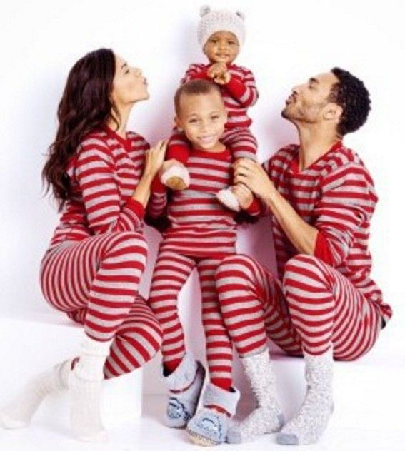 2016 new family matching outfits striped family christmas for Funny matching family christmas pajamas