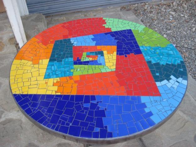 mesa mosaico, hermosa