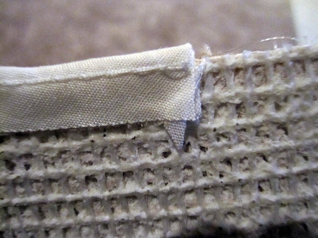 How To Bind Carpeting Using Piping And Glue Gun For The
