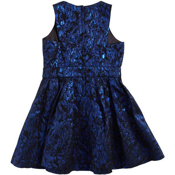Bardot Junior Girls Metallic Party Dress ($53) ❤ liked on Polyvore featuring cobalt
