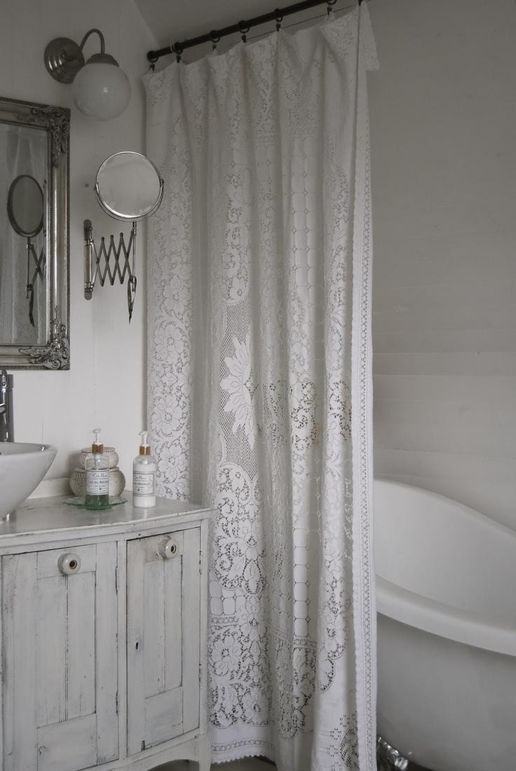 LOVE the curtain!!! Master bath, new cass