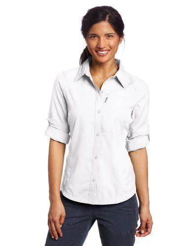 Intéressé(e) par les vêtements de randonnée ? Profitez de nos promotions femme de -20% à -50%*. Visitez également notre boutique Randonnée et Camping.  Columbia Silver Ridge Long Sleeve Shirt Chemise manches longues femme Blanc L de Columbia, http://www.amazon.fr/dp/B0058Z114Q/ref=cm_sw_r_pi_dp_hJXisb00YZ9NN