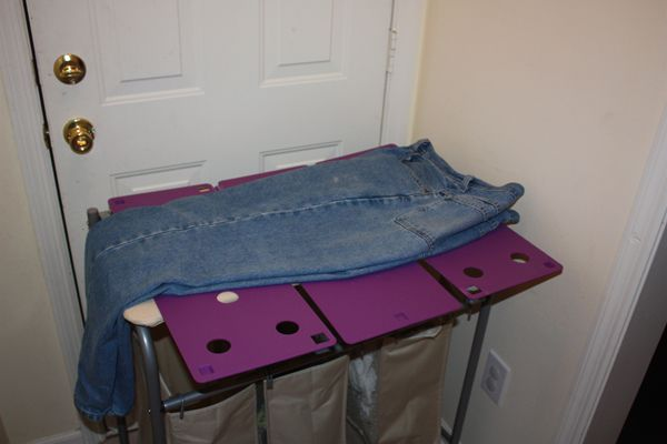 How to Fold Pants With the FlipFold Shirt and Laundry Folder: Folding Pants With the FlipFold Laundry Folder - Step 1
