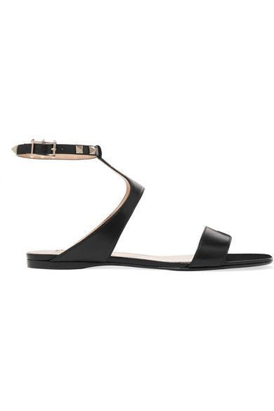 Valentino - The Rockstud Leather Sandals - Black - IT