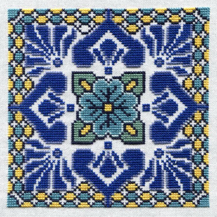 Acapulco Tile Cross Stitch Pattern by RandeeK on Etsy