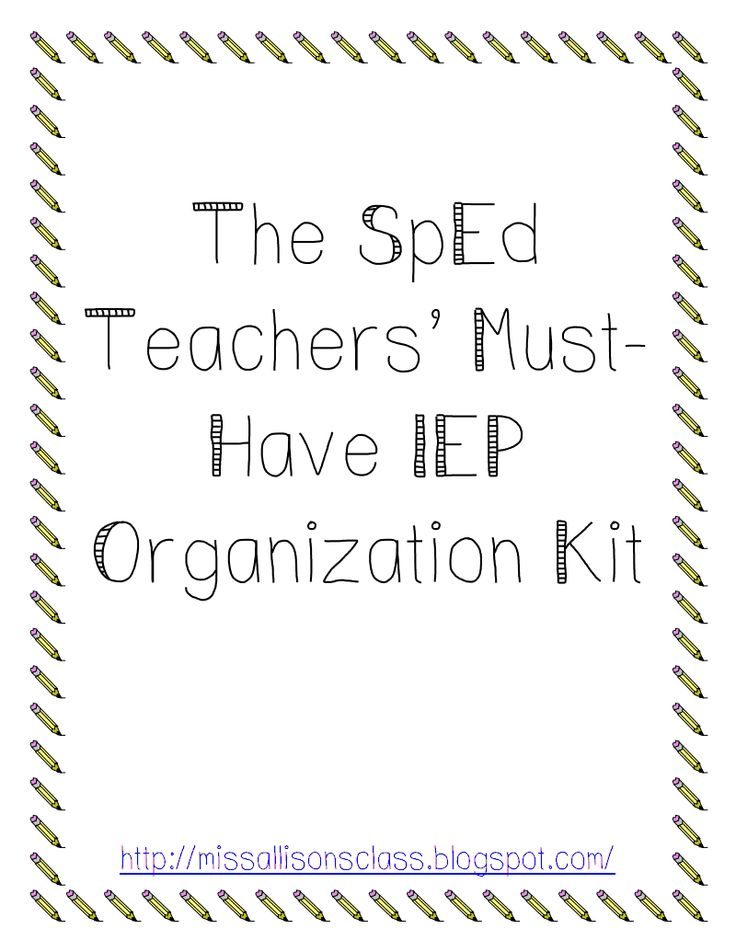 IEP Organization Kit.pdf - Google Drive Good starting point, with some changes for my specific classroom