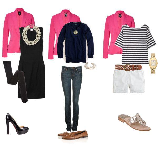 Versatility with a pink blazer