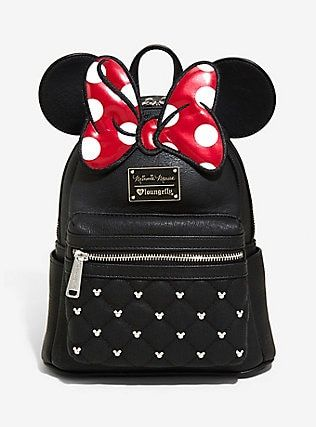 208bfd01b1c1 Loungefly Disney Minnie Mouse Bow Ears Mini Backpack in 2018 ...