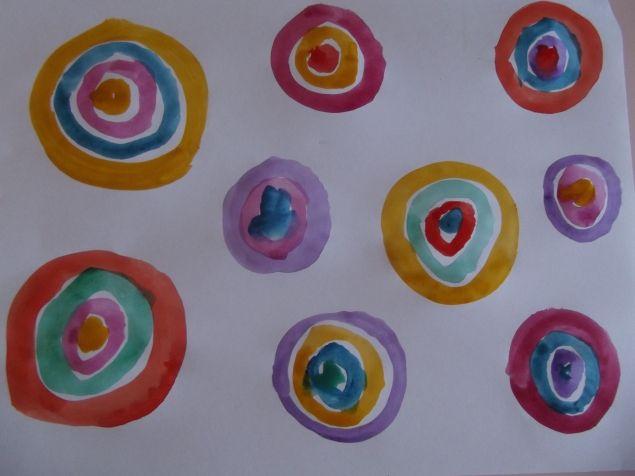 Цветные круги . - Поделки с детьми | Деткиподелки