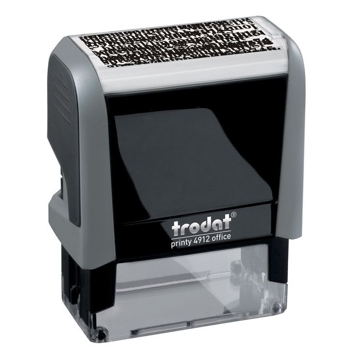 ID Protection Stamp Self Inking Stop Identity Theft Privacy Erase It Black Ink #Trodat