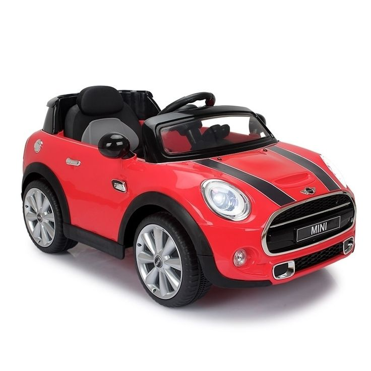 Red & Black Mini Cooper Electric Kids Ride On Car