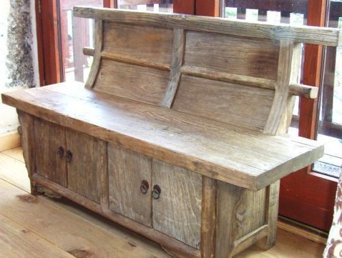 Reclaimed Elm Bench Seat with Storage (Welly Boot Bench)