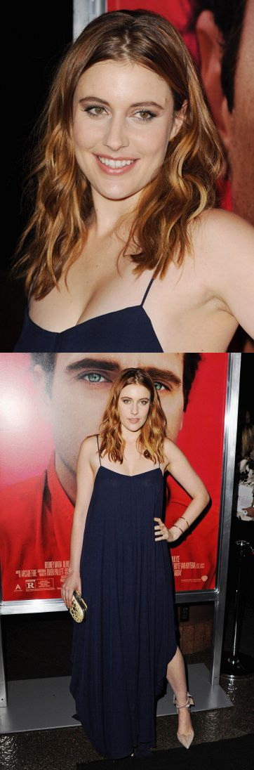 Greta Gerwig at the premiere of 'Her' in LA. Makeup by Dawn Broussard. Styling by Erin Walsh.