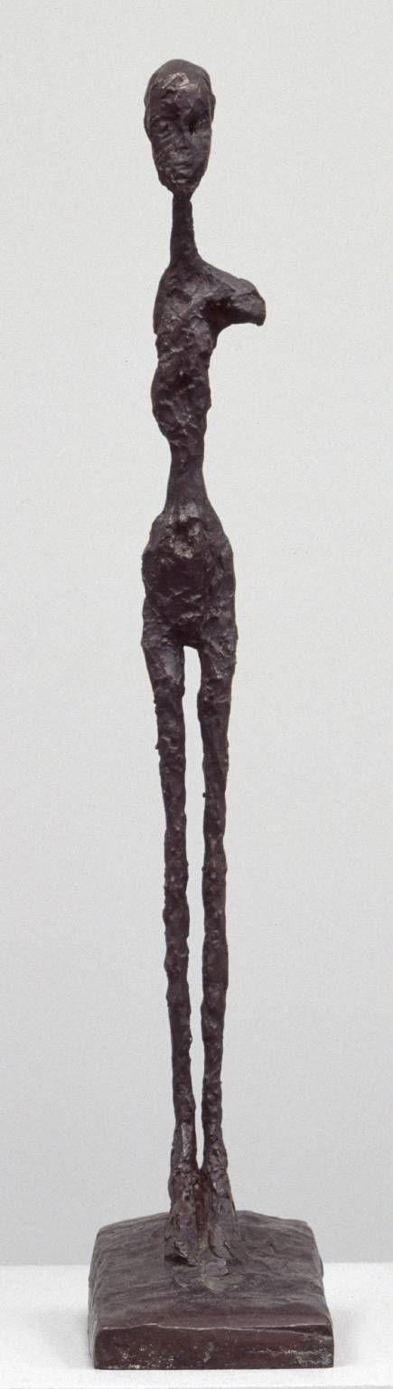 Alberto Giacometti, Standing Woman, c. 1958, cast 1964, Bronze, 651 x 121 x 200 mm, The Tate Modern Museum, London Alberto Giacometti Art paintings, sculptures, plastic arts, visual arts, art