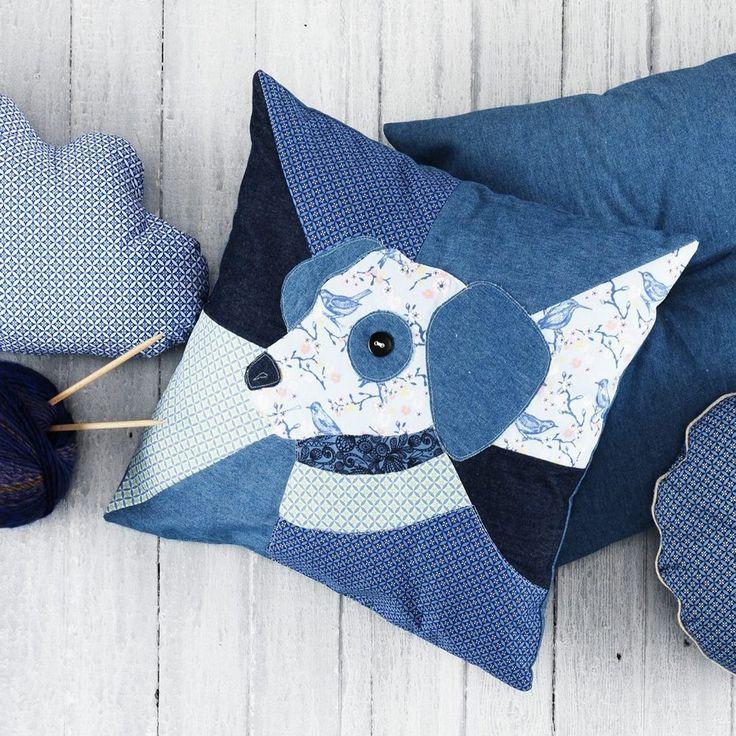 98 best images about cojines pillow denim on pinterest - Cojines de patchwork ...