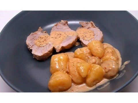 Recette de filet mignon de porc au maroilles, champignons et pommes de terre (Cookeo) - YouTube