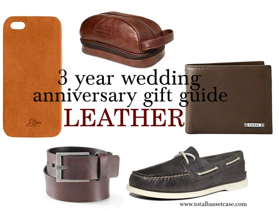 3 Year Wedding Anniversary Gift Guide Leather