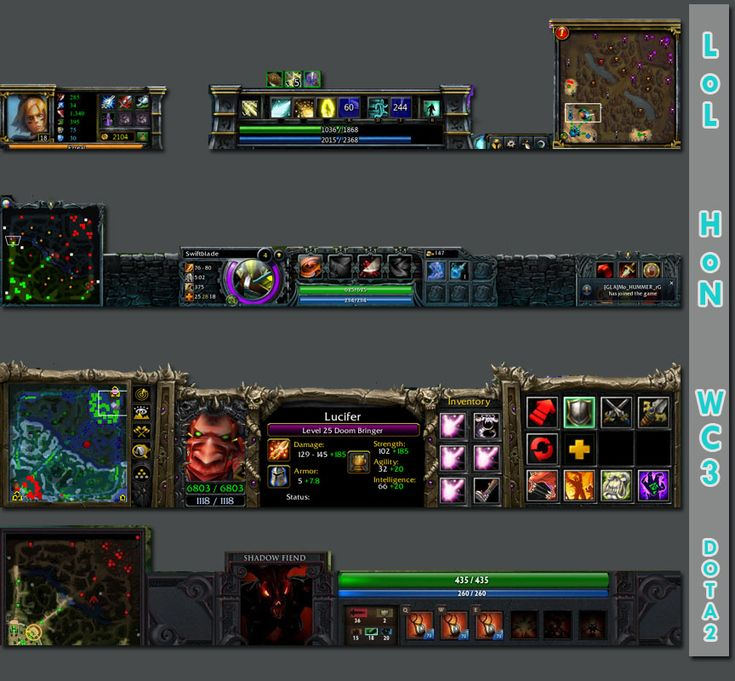 famous moba interfaces