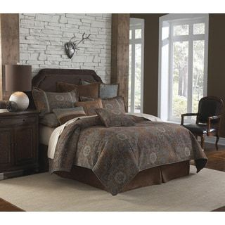 Veratex Savanah Southwestern 4-piece Luxury Comforter Set   Overstock.com Shopping - The Best Deals on Comforter Sets