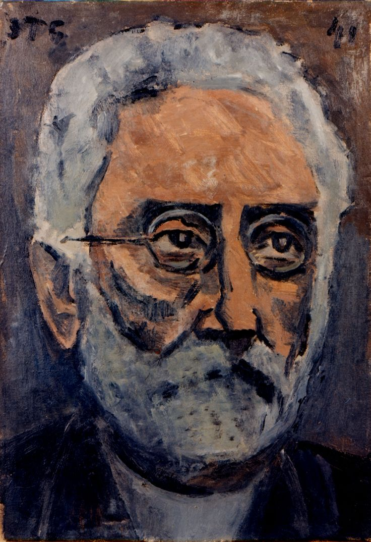 Retrato de Unamuno - Torres García, Joaquín. 1941. Óleo / Lienzo. 54,5 x 38 cm