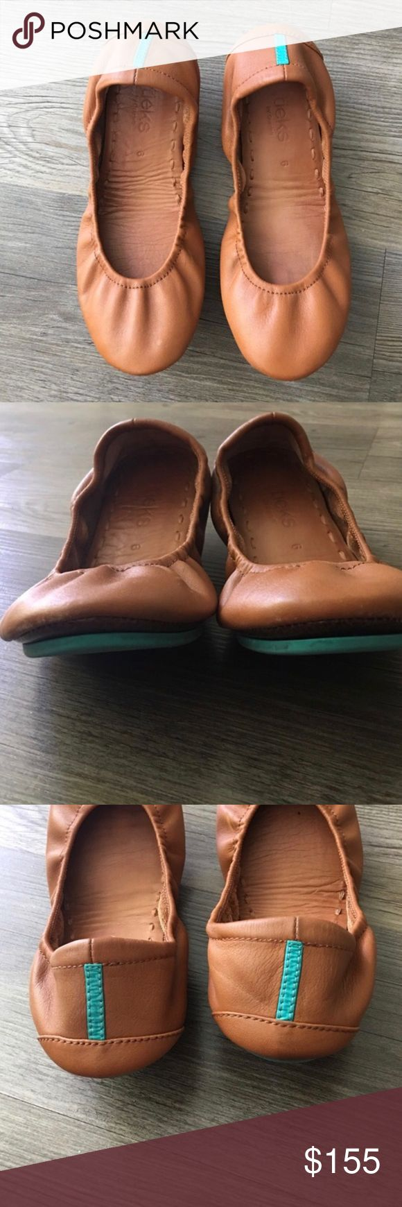 Chestnut Tieks Chestnut leather Tieks. In very good condition. Price is firm on here. Can sell for less on other platforms. Tieks Shoes