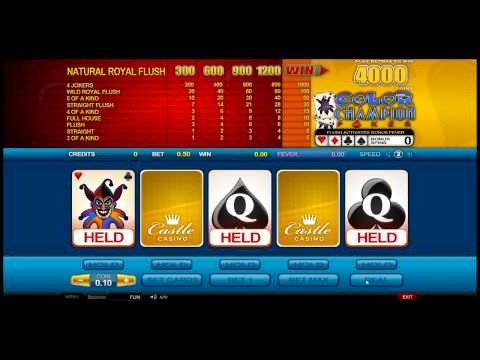 Color Champion - Video Poker from Castle Casino http://www.castlecasino.com/video-poker/color-champion