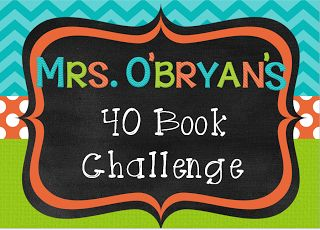 This year, I'm joining my students in the 40 Book Challenge.  I created this sign for my classroom door.  Here is a FREEBIE editable version you can snag for your own. #wildaboutfifthgrade