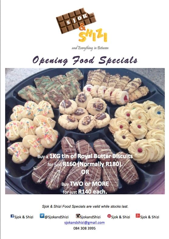 Opening Food Specials - Biscuits