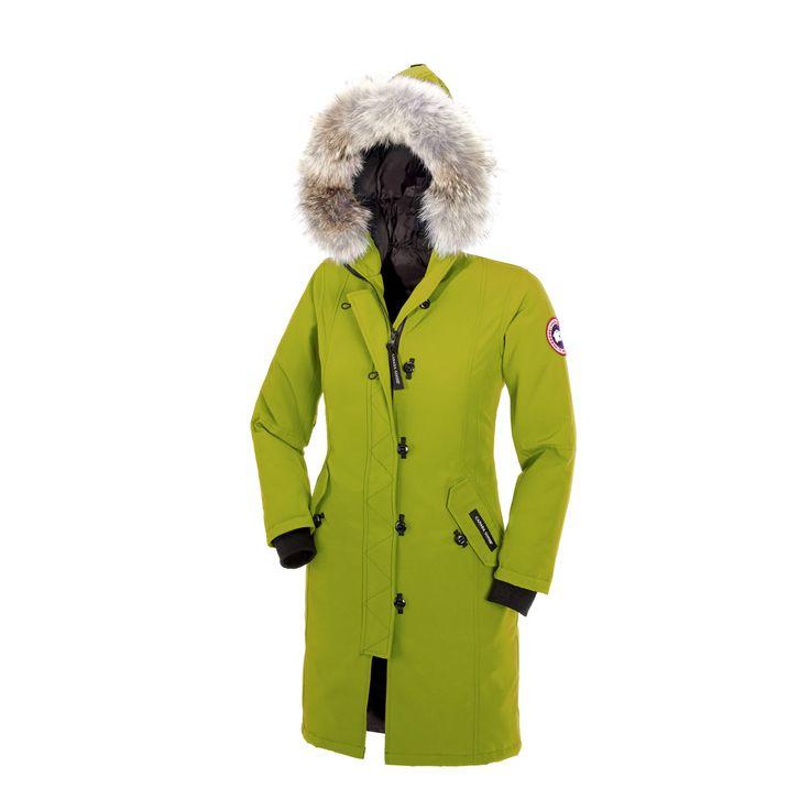 Canada Goose [4-20] Kensington Parka AURORA GREEN For Girl