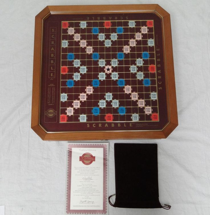 Franklin Mint Collectors Edition Scrabble Board 24k Gold Plated Tiles Unused Set #FranklinMint #delux #scrabble ##