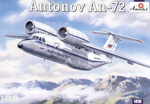 Antonov An-72. A Model, 1/144, injection, No.1410. Price: 15,76 GBP.