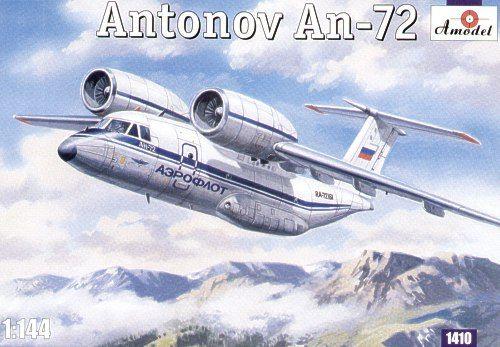 Antonov An-72. A Model, 1/144, injection, No.1410. Price: 15,76 GBP.
