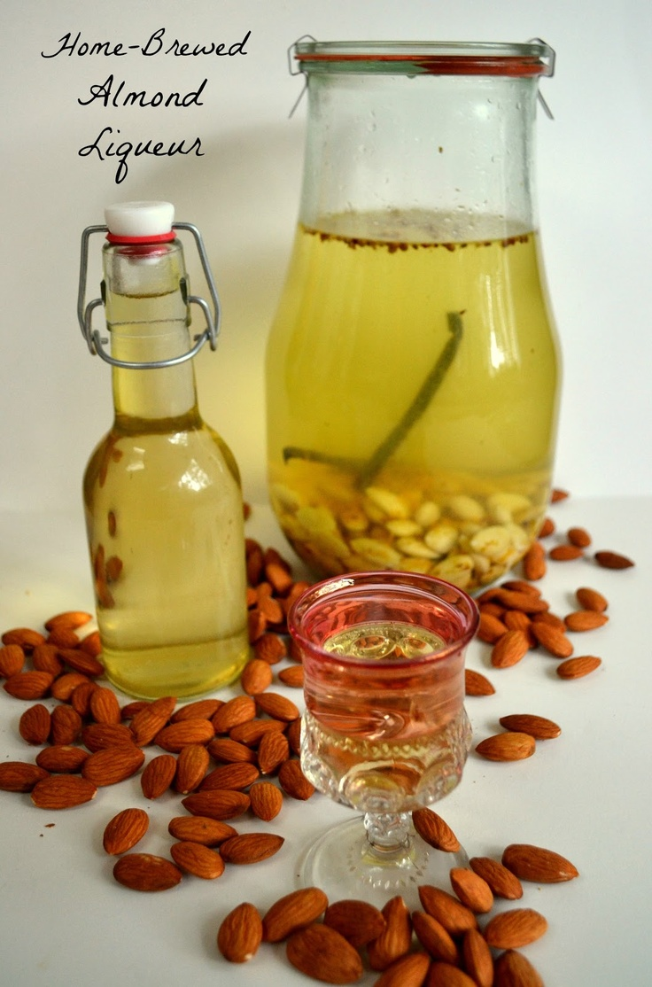 Toast the new year with homemade almond liqueur liquore for Homemade aperitif recipes