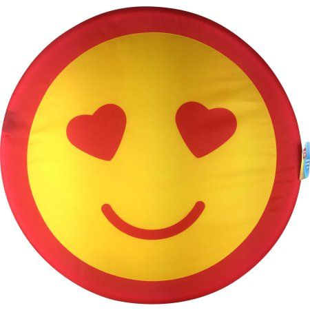 Play Day Jumbo Flying Disc, Smiley Face Heart Eyes