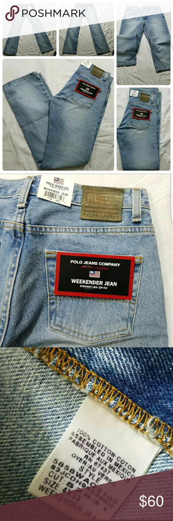 New Vintage Womens Polo Jeans Co Weekender Sz 4x33 Vintage New With Tags Womens Polo Jeans Co Weekender Straight Leg Light Wash Sz 4×33 New With Tags Feel free to ask any questions and make offers Polo by Ralph Lauren Jeans Straight Leg