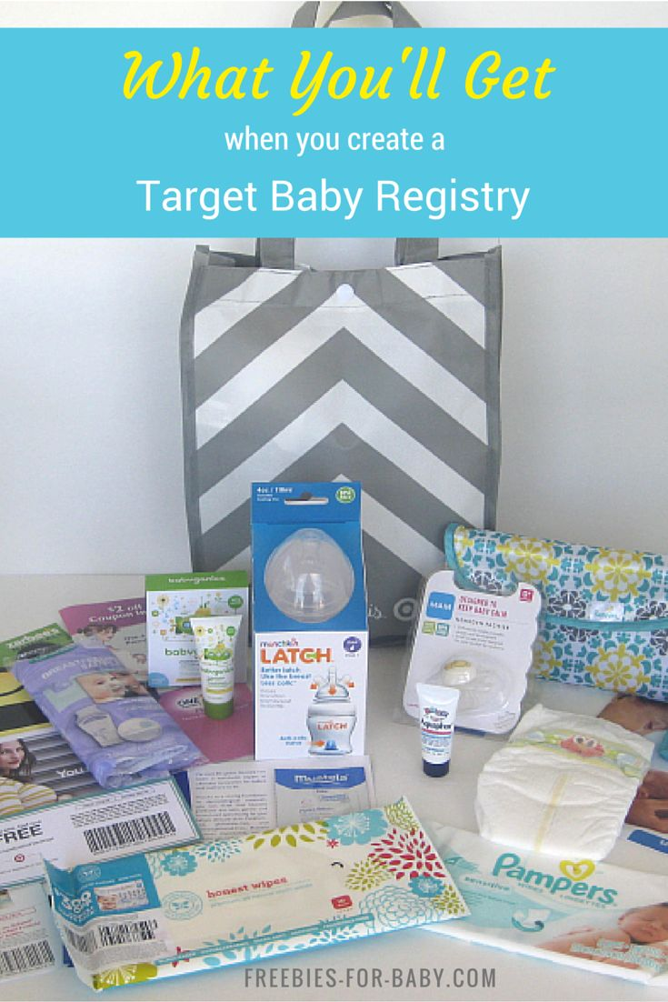 Get a Free Gift Bag ($70 value) when you create a Target Baby Registry. Lots of free baby samples inside. #BabyRegistry