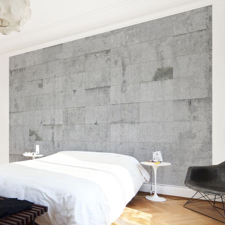 Die besten 25+ Betontapete Ideen auf Pinterest Tapeten beton - fototapete wohnzimmer braun