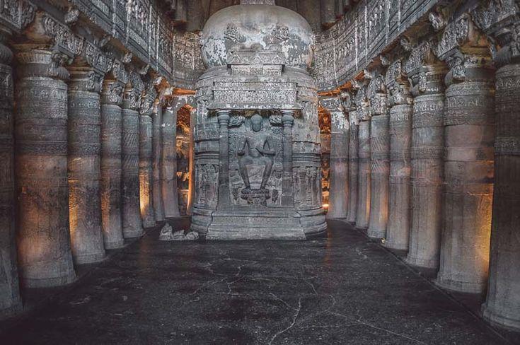 The Chaitya Griha prayer hall at Ajanta Caves