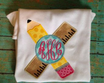 Back to School Appliqued Shirt