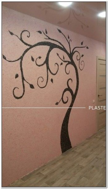Это будет #детская для моей внучки. #Отделка_стен выполнена #шелковой_штукатуркой (#жидкими_обоями) #Silk_Plaster двух разных цветов. На подготовленные стены сначала по #рисунку #нанесла чёрным цветом дерево. После того, как рисунок просох, стала #наносить основной цвет.  https://www.plasters.ru/info/design-ideas/aktsiya_remont_povod_dlya_tvorchestva/galina_nab_chelny_tatarstan/