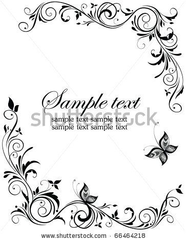 17 Best images about For lilies room on Pinterest | Fonts ...  Shutterstock Border Design Free Download