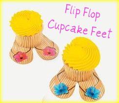 Flip Flop Cupcake Feet